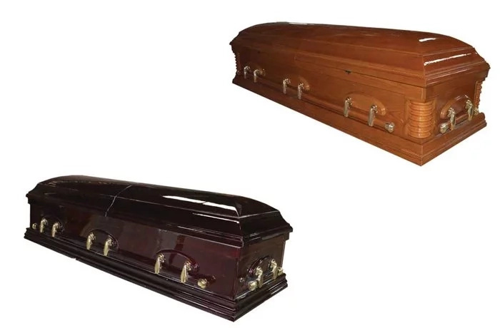 Bizarre moment as coffin attacks two elders on suspicion of witchcraft