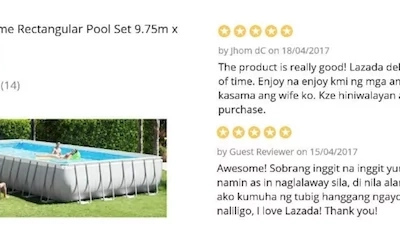 Netizens are giving totally hysterical reviews at this 120k pool being sold online