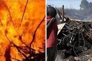 PANIC as huge fire razes down 40 homes in Mountain View estate, Nairobi