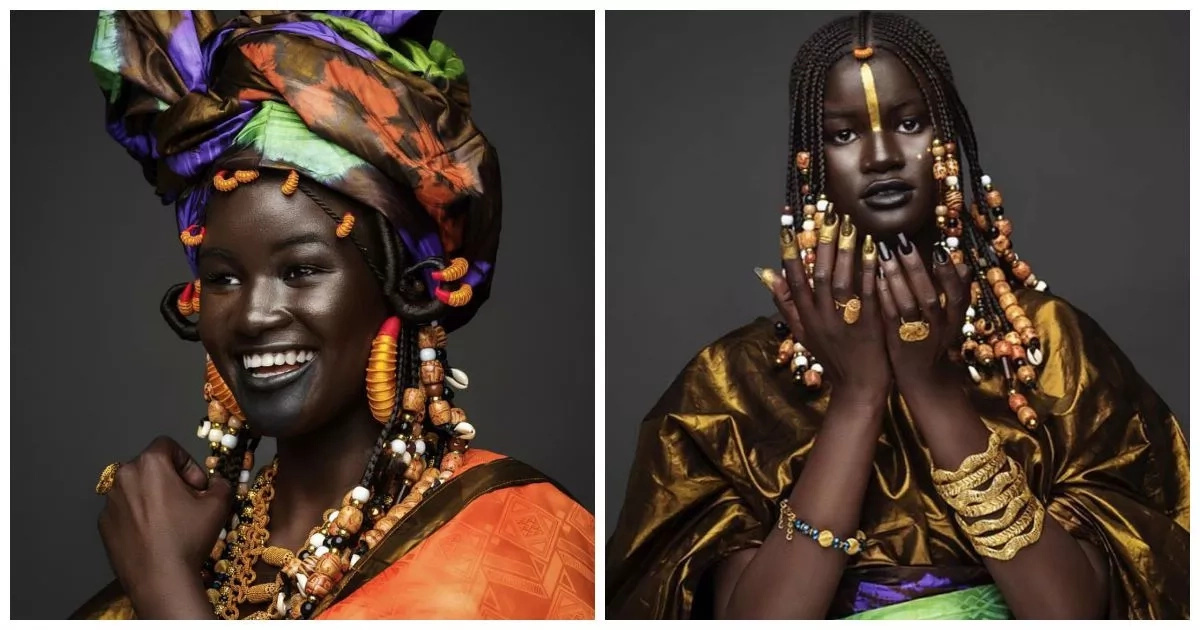 Melanin Goddess! Senegalese model with beautiful dark skin marks her country's independence (photos)