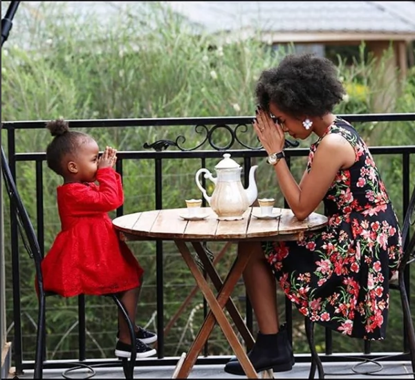 Gospel singer Juliani's baby mama Brenda Wairimu finally unveils daughter's face and she's adorable