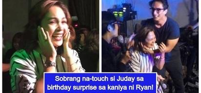 Mapagmahal na asawa! Judy Ann Santos gets emotional with surprise birthday party by Ryan Agoncillo