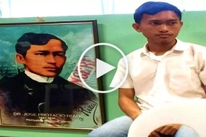 This unbelievable Pinoy student in Davao City went viral for looking exactly like Jose Rizal!