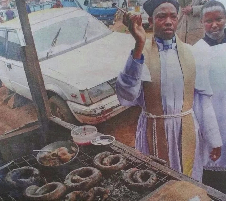 Nyeri pastor blesses 'mutura' on the streets