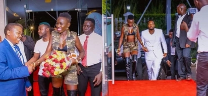 Singer Akothee leaves nothing to imagination at party in Kisumu