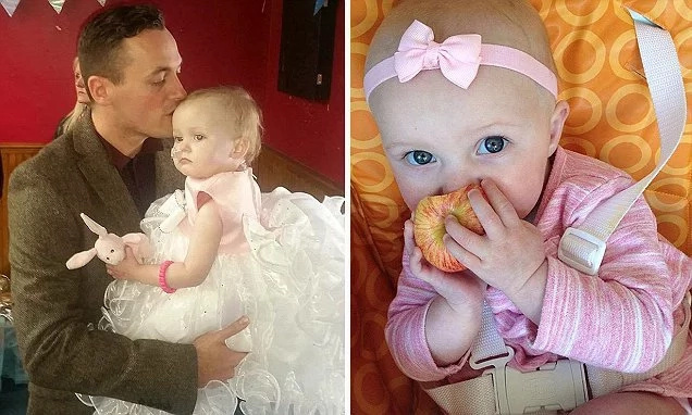 One-year-old girl marries own father days before passing away