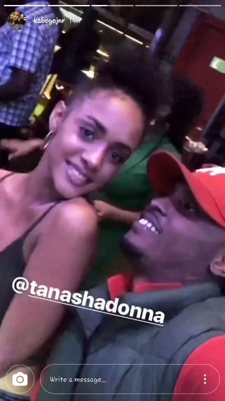 Kabogo Junior enjoys the warmth of a Kenyan model