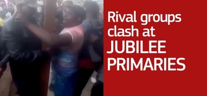 Rival groups clash at the Jubilee primaries in Eastleigh South Ward and we have the video