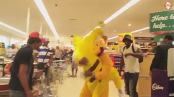 Pokémon real life battle ensues in supermarket