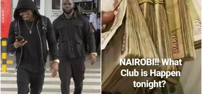 Diamond Platnumz creeps into Kenya secretly, blows money as he parties away in local club
