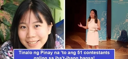 Di-matatawaran galing ng Pinoy! 20-year-old Pinay wins world public speaking competition, besting reps from 51 countries