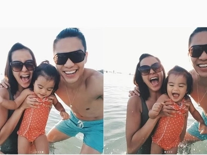 Bianca Gonzalez Became a Third Wheel to Baby Lucia and JC Intal's Short Vacation in Boracay, PH
