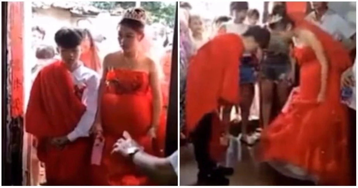 Much too young! Controversy as boy, 13, marries his 13-year-old pregnant girlfriend (photos, video)