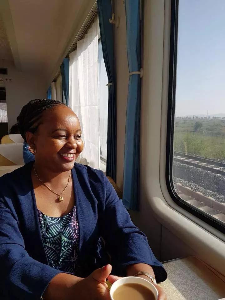 Uhuru Kenyatta and Anne Waiguru board Madaraka express to coast