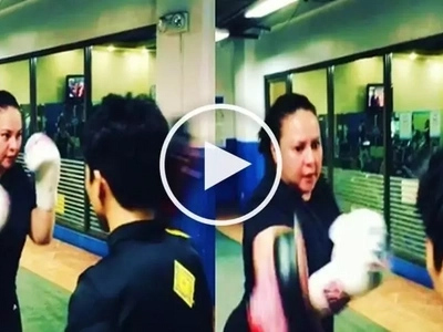 Epic video of determined Karla Estrada trying to lose weight through boxing goes viral