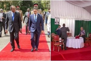 Uhuru changes DRINK, this is what he took during lunch with Seychelles President (photos)