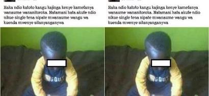 Mwanamke Mkenya amlaumu mtoto wake mchanga kwa KUMFUKUZIA wanaume (picha)