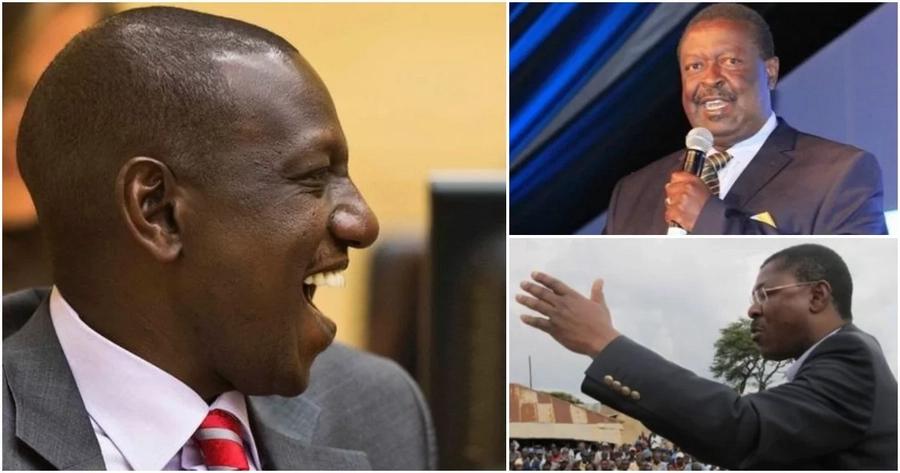 Wetangula na Mudavadi wakita kambi katika ngome ya William Ruto wakieneza amani