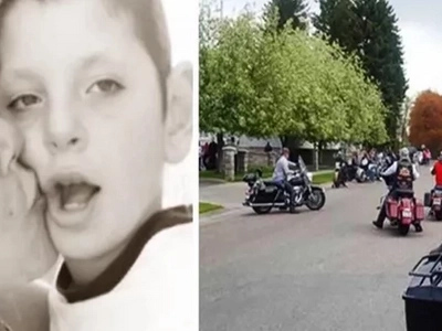 Her Son Died Of A Cruel Disease. At The Funeral She Saw A Biker Gang Riding In Her Direction