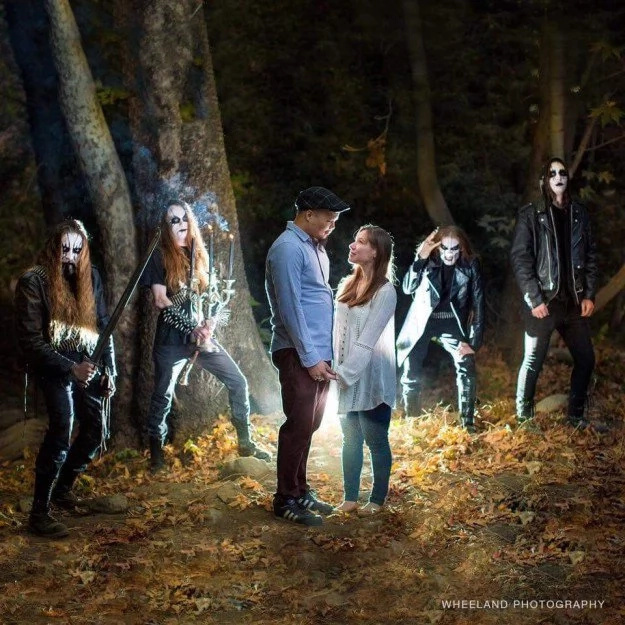 Black Metal Band Crashed Engagement Shoot And It Rocks