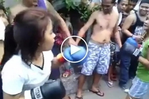 Pinay teen gets brutally knocked out by dangerous girl in wild boxing street fight