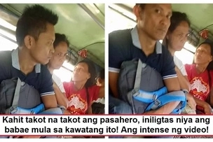 Wala kang lusot! Brave jeepney passenger confronts pickpocket who was trying to steal from a woman during in Taguig