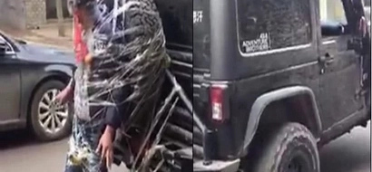 Man suffocates as friends strap him behind jeep - part of stag prank