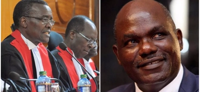 Wafula Chebukati reacts after Supreme Court upheld Uhuru's victory