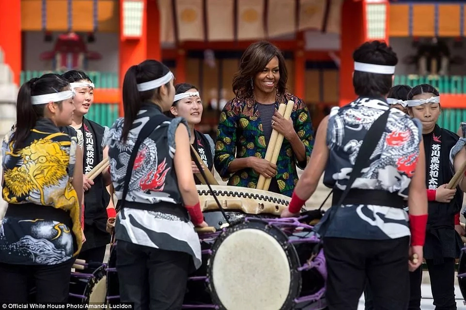 Lucidon travelled with Obama to over 20 countries, including here in Japan. Photo: Amanda Lucidon