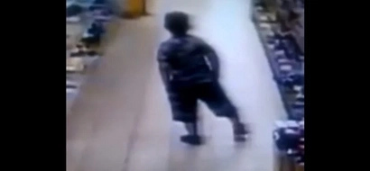 Kid's Stealth Style Of Pooping In Store Without Even Pulling His Pants Down Is Really Disgusting (Video)