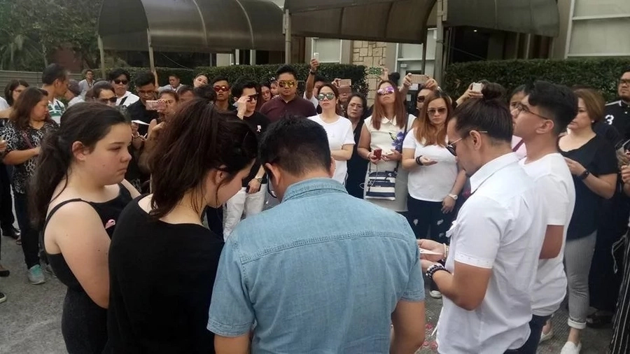 Isabel Granada's cousin Joseph Rivera shares emotional photos of the actress' solemn funeral