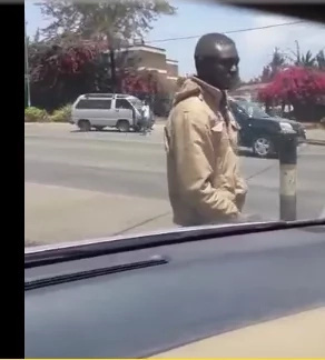 Man fondles himself on a busy Kenyan highway shocking motorists