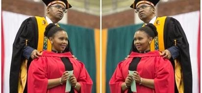 Never give up! Mother who struggled with life-threatening depression graduates with PhD