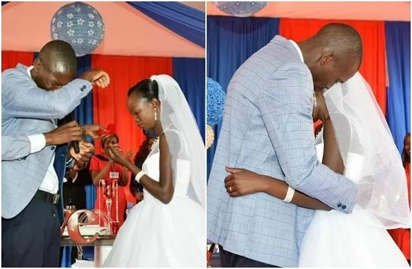 Too emotional! Couple break down in tears as they exchange their vows (photos)