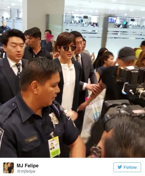 Korean Sensation Lee Min Ho Arrives In Manila