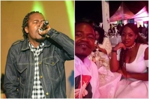 Kenya's Iconic rapper Jua Cali shows off his bootylicious wife