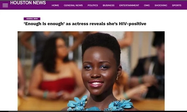 American publication claims that Lupita Nyong'o is HIV positive