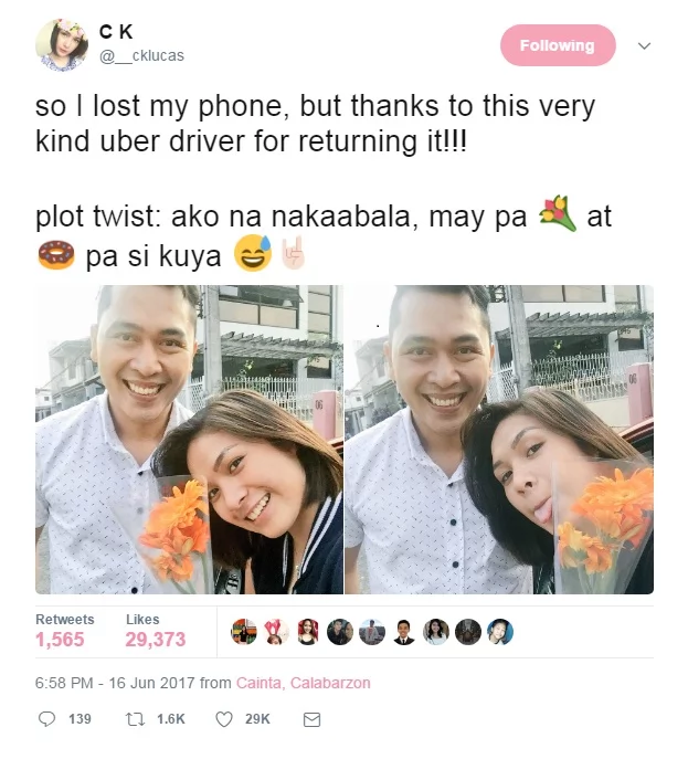 Girl unknowingly leaves phone behind in an Uber car. Driver returns it, with greatest surprise the girl never expected