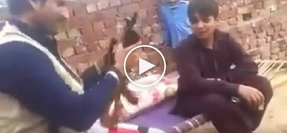 Muntikan ng mamatay! Clumsy Arab almost kills 2 innocent kids while playing with his deadly gun