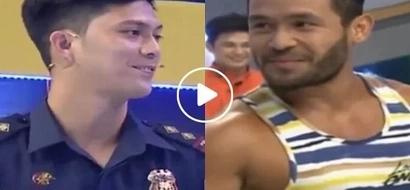 Pogi na, lucky pa! Good-looking Filipino cop wins Eat Bulaga's Jackpot en Poy, defeats the Catwalk King Sinon Loresca