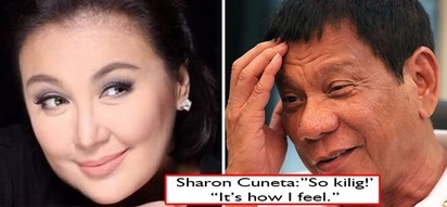 Naku, babay Kiko na 'to? Sharon Cuneta feels 'kilig' after Pres. Duterte specially mentioned her twice during a speech
