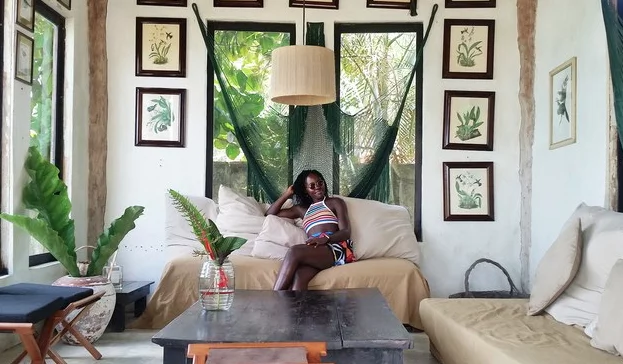 The actress at Coqui Coqui near Coba. Photo: Vogue/Lupita Nyong'o