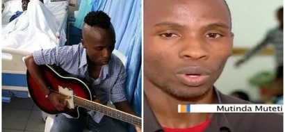 Meet big-hearted Mutinda Muteti who plays music at hospitals to SOOTHE patients (photos, video)