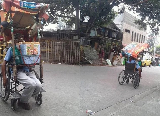 Man in wheelchair sells buko salad, his story inspires many