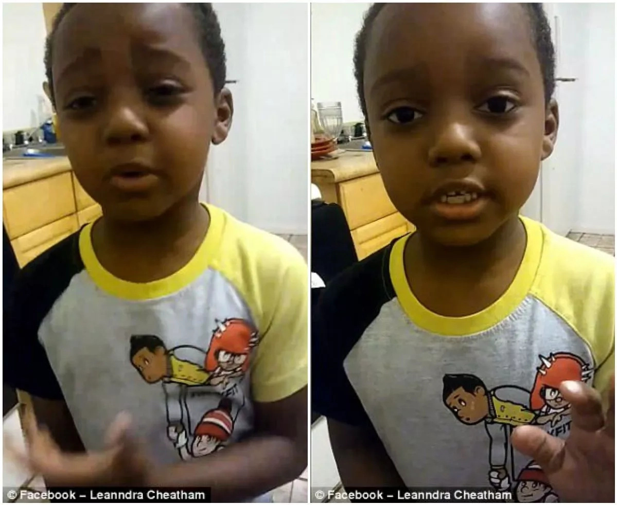 Boy, 6, condemns gun violence: 'Stop killing each other!'