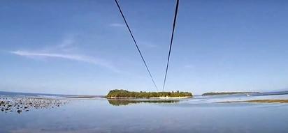 WATCH: Go island hopping through the world's longest zipline!