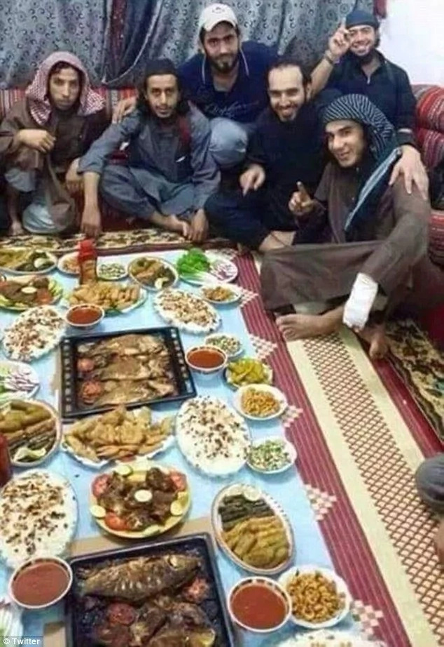 Feasting: At least 45 ISIS fighters have reportedly died after breaking their Ramadan fast with a meal laced with poison