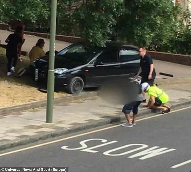 Twins survive crash being pinned to the ground by a car