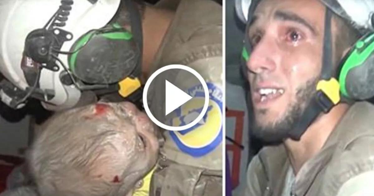 Video muestra conmovedor rescate de bebé sirio de las ruinas