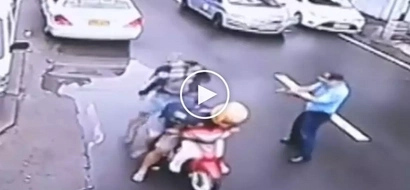 Patayan sa kalsada! Heroic Pinoy cop gets into brutal gunfight with 3 deadly hold-uppers in Manila